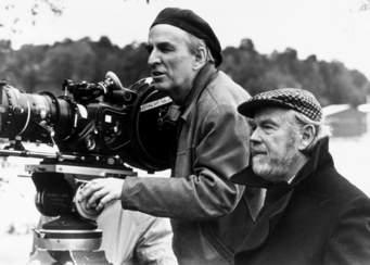 Ingmar Bergman mit Kameramann Sven Nykvist